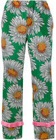 Gucci floral print trousers - women - Silk/Acetate - 40
