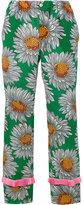 Gucci floral print trousers - women - Silk/Acetate - 42