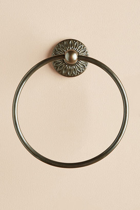 Anthropologie Floral Imprint Towel Ring By in Brown Size M
