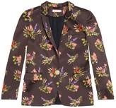 Tomcsanyi Mara Lame Flower Print Satin Jacket