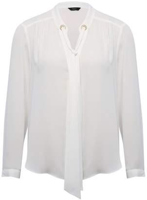 M&Co Tie neck blouse