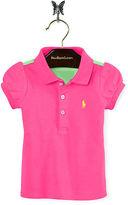Ralph Lauren Girl Color-Block Stretch Polo Shirt