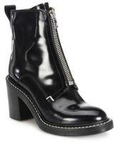 Rag & Bone Shelby Zip-Front Leather Block-Heel Booties