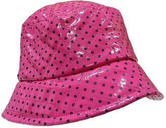 I Smalls i-Smalls Ladies/Girls Quilted Rain Hat in Pink Spotty Design