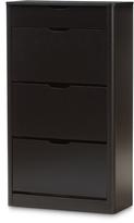 Baxton Studio Black Cayla Shoe Cabinet