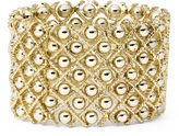 JCPenney Bold Elements Gold-Tone Ball Stretch Bracelet
