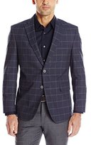 Louis Raphael Men's Tailored Stretch Cotton Blend Wondowpane Check Blazer