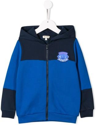 Kenzo panelled logo hoodie