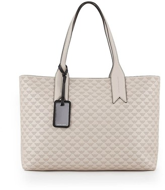Emporio Armani Taupe Monogram Shopping Bag