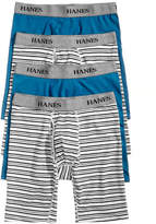 Hanes Men's 4-Pk. Platinum Stretch Long-Line Boxer Briefs