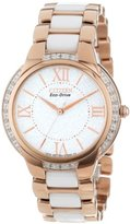 "Citizen Women's EM0173-51A Eco-Drive ""Ciena"" Stainless Steel Eco-Drive Watch with Diamonds"