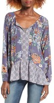 O'Neill Delaney Print Peasant Top