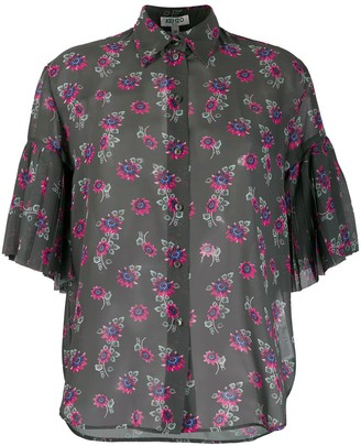 Kenzo Passion Flower sheer shirt