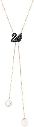 Swarovski Women's Iconic Swan Y-shaped Necklace Brilliant Stones with a Rose-Gold Tone Plated Chain from the Iconic Swan Collection