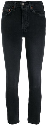 RE/DONE High Rise Cropped Skinny Jeans