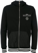 Philipp Plein skull print hooded jacket - men - Cotton/Polyester - M