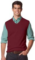 Chaps Big & Tall Classic-Fit Solid Sweater Vest