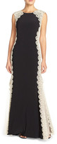 Xscape Evenings Lace Sides Jersey Gown