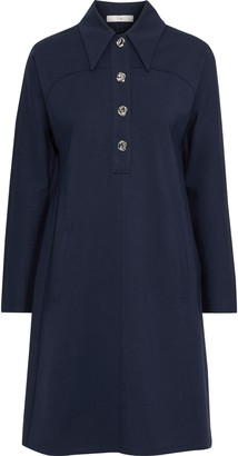 Tibi Bond Stretch-knit Shirt Dress