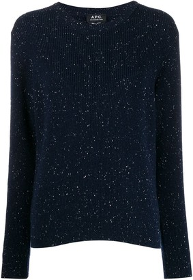 A.P.C. Knitted Flecked Jumper