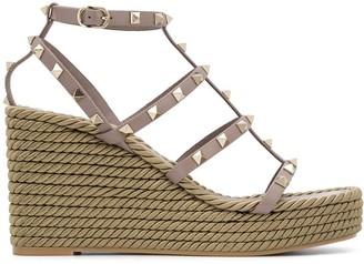 Valentino Rockstud wedge sandals