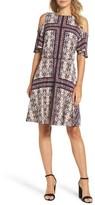 Maggy London Petite Women's Cold Shoulder Shift Dress