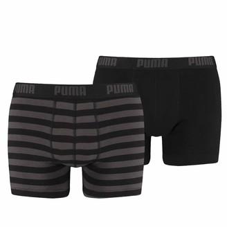 Puma Men's Stripe 1515 Boxer 2p Swim Trunks