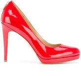 MICHAEL Michael Kors almond toe pumps - women - Leather/Patent Leather/rubber - 37