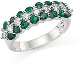 Bloomingdale's Diamond and Emerald Ring in 14K White Gold