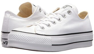 Converse Chuck Taylor(r) All Star Canvas Lift (White/Black/White) Women's Classic Shoes
