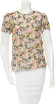Band Of Outsiders Printed Silk Top