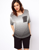 Asos T- Shirt in Stripe with Pocket Detail