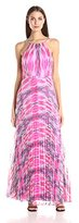 Laundry by Shelli Segal Women's Shoulder Detail Print Gown