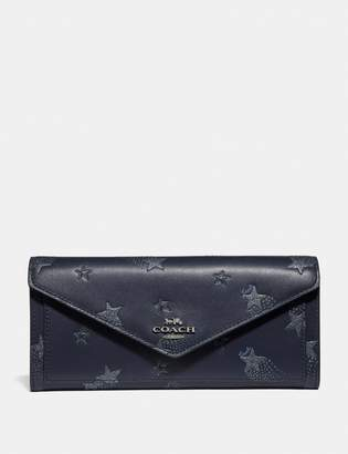 Coach Soft Wallet With Star Print