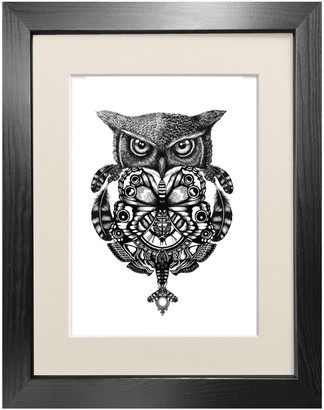 Emily Carter 'The Owl & Pocket Watch' Fine Art Print A5