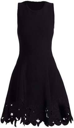 Oscar de la Renta Lace-Trim Day Dress