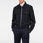 Paul Smith Men's Navy Cropped Wool Jacket