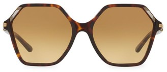 Tory Burch 57MM Polygon Inlaid Sunglasses