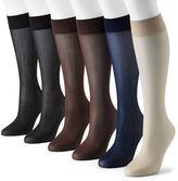 Apt. 9 6-pk. Smooth Trouser Socks
