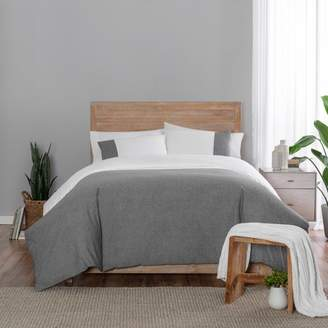 Vue Kinsley Chambray Colorblock Duvet Cover Set