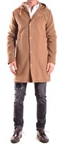 Daniele Alessandrini Men's Brown Wool Coat.