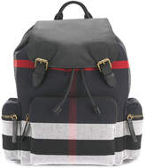 Burberry stripe panel backpack
