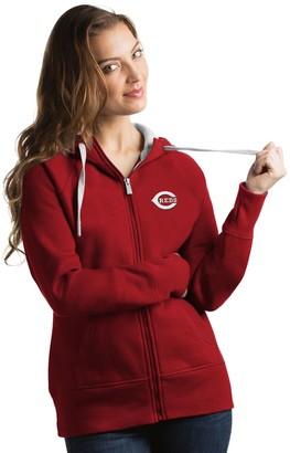 Antigua Women's Cincinnati Reds Victory Full-Zip Hoodie