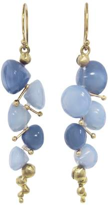 Rachel Atherley Small Peruvian Blue Opal Caviar Drop Earrings
