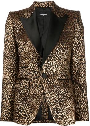 DSQUARED2 Leopard Brocade Smoking Jacket