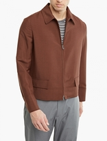 Valentino Brown Wool Harrington Jacket