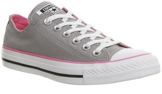 Converse All Star Low Trainers Grey Pink