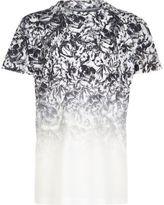 River Island Boys white skull fade print T-shirt