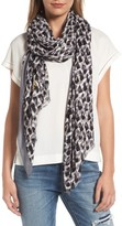 Kate Spade Women's Inked Texture Oblong Twill Scarf