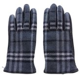Burberry Leather & Wool Nova Check Gloves